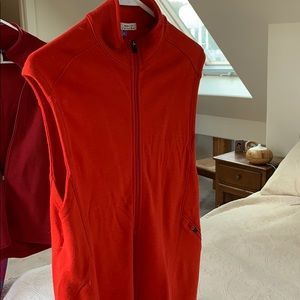 Ibex red wool vest